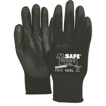 Handschoen PU-Flex zwart mt 11