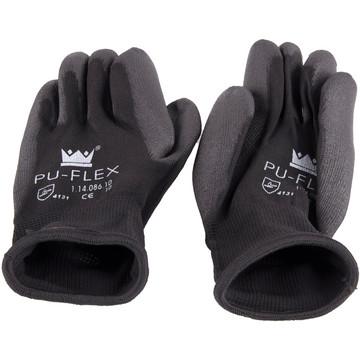 Handschoen PU-Flex zwart mt 7